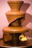 De fontein van de chocolade Stock Foto