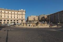 De Fontein van de Najades op Piazza della Repubblica Royalty-vrije Stock Afbeelding