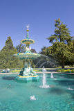 De Fontein van de pauw, Hagley Park, Christchurch, royalty-vrije stock foto