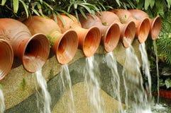 De Fontein van de Potten van het water Stock Afbeelding