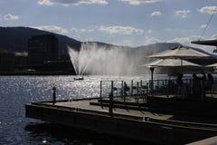 De fontein van de rivier in Drammen Stock Afbeelding