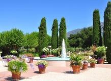 De fontein van de tuin Stock Foto's