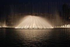De fontein van Doubai Royalty-vrije Stock Foto's