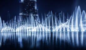 De fontein van Doubai royalty-vrije stock afbeeldingen