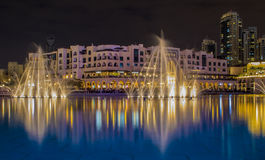 De fontein van Doubai Stock Afbeelding