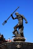 De fontein van Gdansk Neptunus Stock Afbeeldingen
