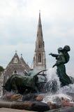 De fontein van Gefion. Kopenhagen. Stock Foto