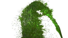 De fontein van groene vloeistof zoals sap op witte achtergrond met alpha- steen gebruikt het als alpha- kanaal versie 4 vector illustratie