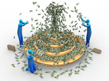 De fontein van het geld Stock Foto's