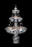 De fontein van het geld Stock Fotografie