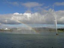 De fontein van het griffioenmeer - kapiteinskok Stock Foto's