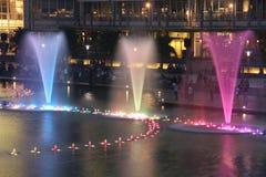 De Fontein van het symfoniemeer, Kuala Lumpur Stock Afbeeldingen