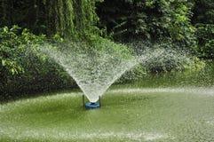 De fontein van het water in tuin Stock Foto's