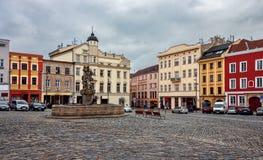 De fontein van Jupiter - Olomouc - Tsjechische Republiek Royalty-vrije Stock Afbeeldingen