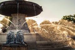De fontein van La Rotonde stock foto