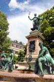 De fontein van Lindau Stock Afbeeldingen