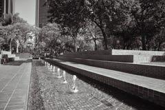De fontein van Los Angeles Stock Afbeeldingen