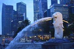 De fontein van Merlion Stock Afbeelding