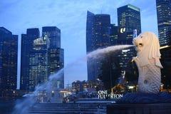 De fontein van Merlion Stock Fotografie