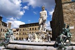 De fontein van Neptun stock afbeeldingen