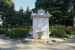 De fontein van de ottomanestijl in het Gulhane-Park Istanboel stock foto's