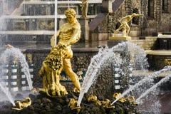 De Fontein van Samson, Grote cascade in Pertergof Stock Fotografie