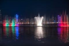 De fontein van Sharjah Stock Foto