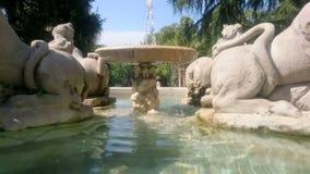 De fontein van Sphynx van villasciarra stock video