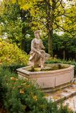 De fontein van Susannabrunnensusanna in Mirabellgarten Mirabell GA royalty-vrije stock afbeeldingen