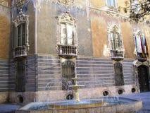 De fontein van Valencia royalty-vrije stock afbeeldingen