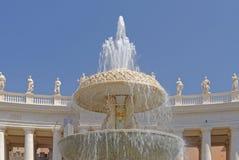 De fontein van Vatikaan Stock Foto