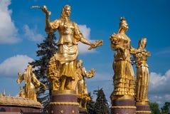 De Fontein van Vriendschap van Naties in Moskou, Rusland Royalty-vrije Stock Fotografie