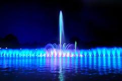 De fontein van Wroclaw toont royalty-vrije stock foto