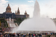 De fonteinen van Barcelona royalty-vrije stock afbeelding