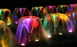 De fonteinen van de nacht Royalty-vrije Stock Afbeeldingen