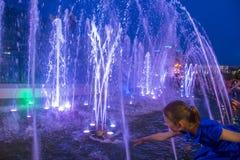 De Fonteinen van Kiev op Maidan Nezalezhnosti Stock Afbeeldingen
