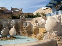 De fonteinfragment van dierenriemtekens Yaffo, Israël stock foto