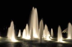 De fonteinnacht van het water Royalty-vrije Stock Foto's