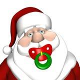 De Fopspeen van de kerstman royalty-vrije illustratie