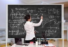 De formule van de leraarstekening royalty-vrije stock fotografie