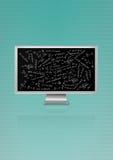 De formule van de monitorwiskunde Stock Fotografie