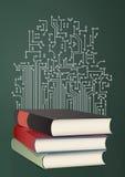 De formule van de schoolwiskunde stock illustratie