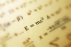 De formule van Einstein van relativiteit stock afbeelding