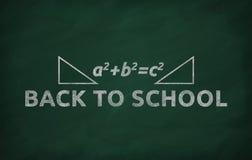 De formule van Pythagoras Stock Afbeeldingen