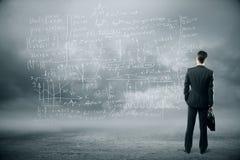De formules van het onderzoekconcept stock afbeelding