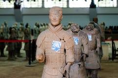 De forntida kinesiska kulturella relikerna av Terra Cotta Warriors Royaltyfri Bild
