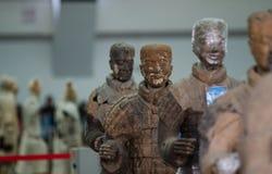 De forntida kinesiska kulturella relikerna av Terra Cotta Warriors Royaltyfria Bilder