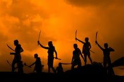De forntida krigarna av Thailand Fotografering för Bildbyråer