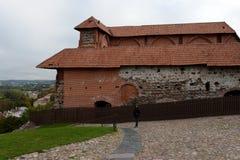 De fortleva byggnaderna av övreVilnaen rockerar 1419 i Vilnius 1905 arkitektoniska byggandemonument Fotografering för Bildbyråer