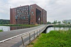 De forumbouw bij de Universiteit van Wageningen Royalty-vrije Stock Foto